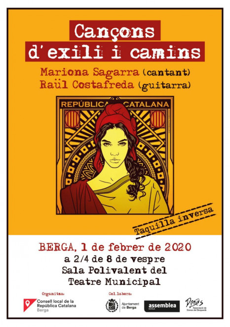 """Conçert """"Cançons d'exili i Camins"""" @ Teatre Municipal de Berga"""