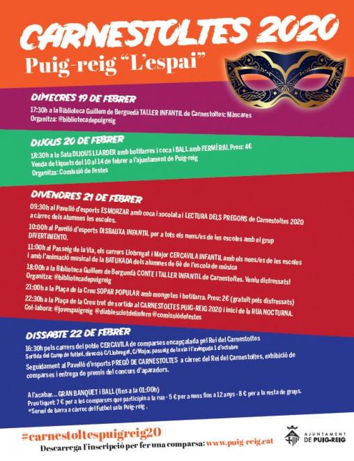 Carnestoltes PUIG-REIG 2020 @ PUIG-REIG