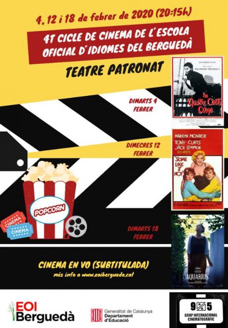 4t Cicle de cinema de l'EOI Berguedà: Some like it hot @ Teatre Patronat de Berga