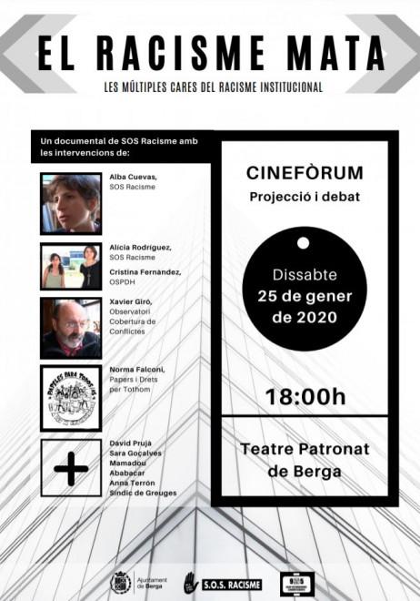 Cinefòrum: 'El racisme mata. Les múltiples cares del racisme institucional' @ Teatre Patronat de Berga