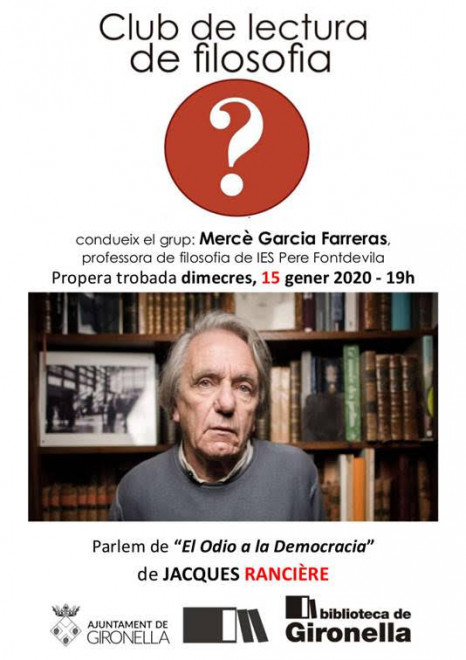 Club de lectura de filosofia @ Biblioteca de Gironella