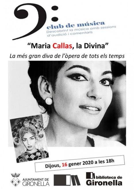 Club de música: Maria Callas @ Biblioteca de Gironella