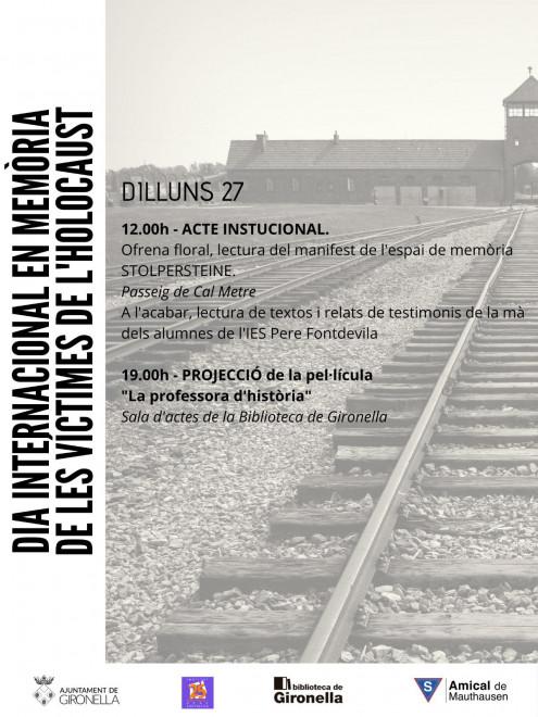 Dia internacional en memòria de les víctimes de l'holocaust @ Gironella