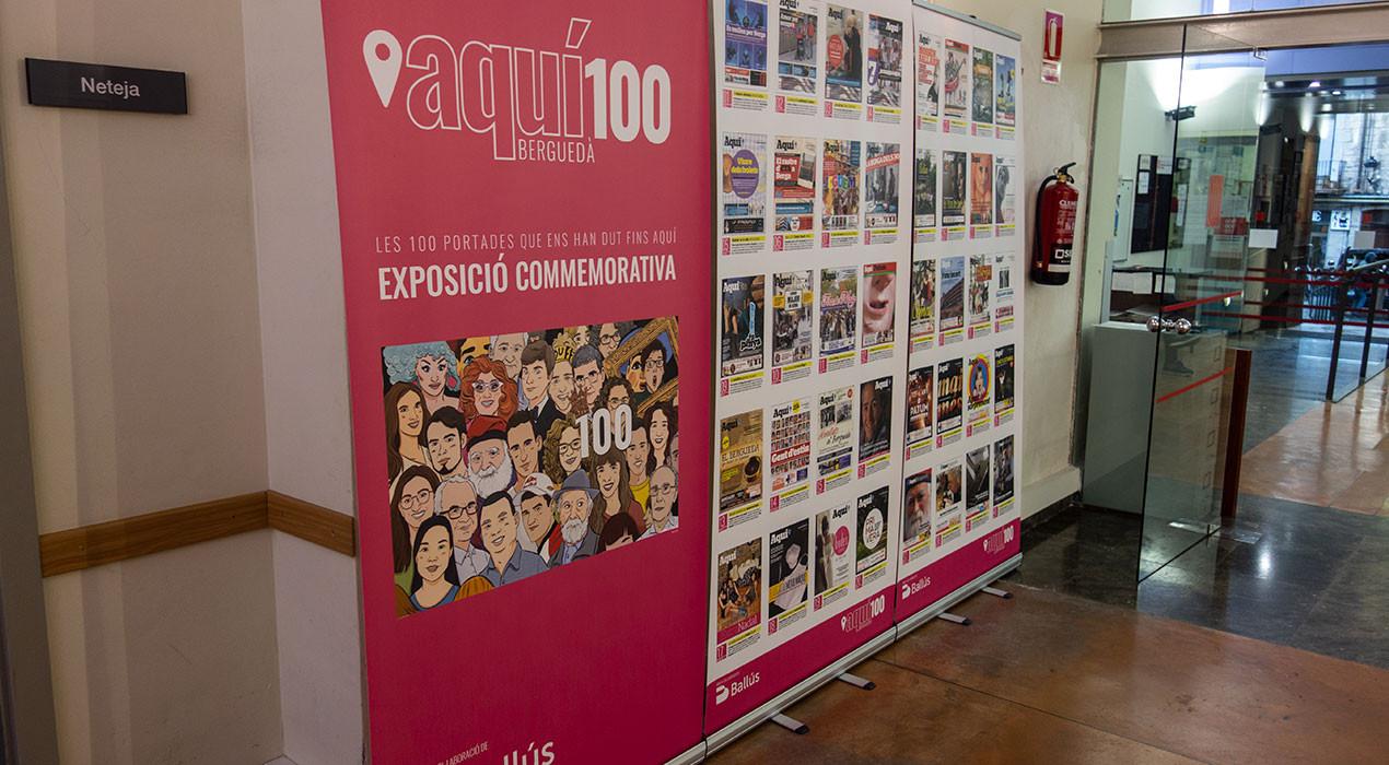 L'exposició de les 100 portades de l'Aquí ja és al Casal Cívic de Berga, on es podrà visitar fins el 16 de febrer