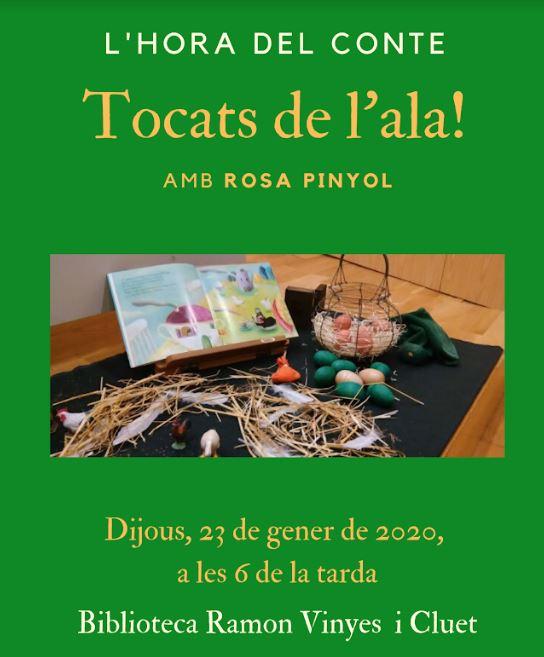 L'hora del conte: Tocats de l'ala @ Biblioteca Ramon Vinyes i Cluet (BERGA)