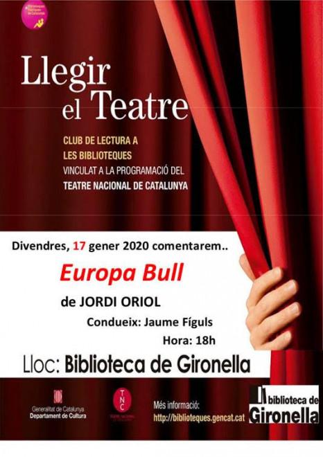 Llegir el teatre: Europa Bull @ Biblioteca de Gironella
