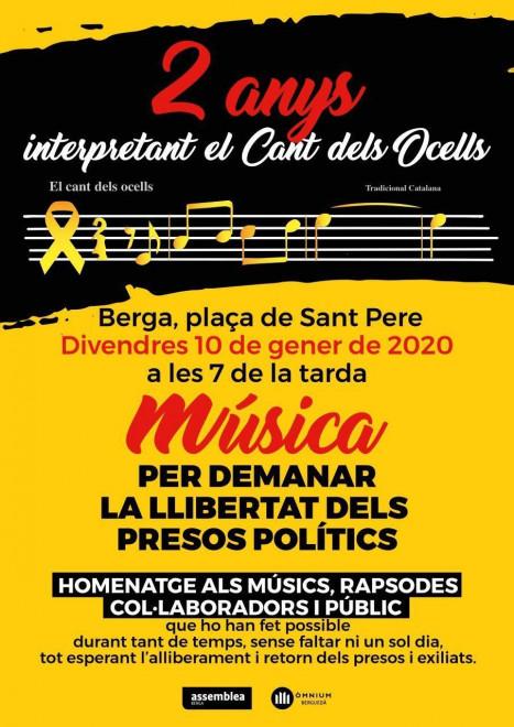 Música per la llibertat @ Plaça Sant Pere (BERGA)