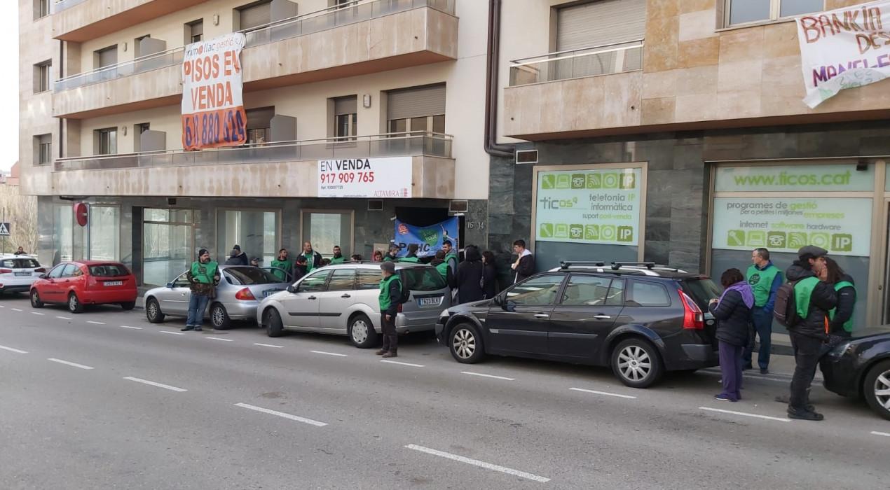 La PAHC vol aturar el desnonament d'un home de 54 anys al carrer Pere III de Berga
