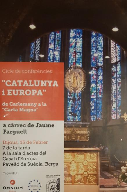 """Cicle de conferències """"Catalunya i Europa"""" @ Pavelló de Suècia (BERGA)"""