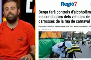 Els controls d'alcoholèmia als conductors del carnaval de Berga, motiu de mofa a TV3