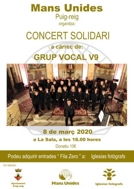 Concert solidari Mans Unides @ La Sala (PUIG-REIG)