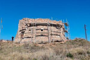 Berga inicia les obres per aturar la degradació de la Torre de la Petita
