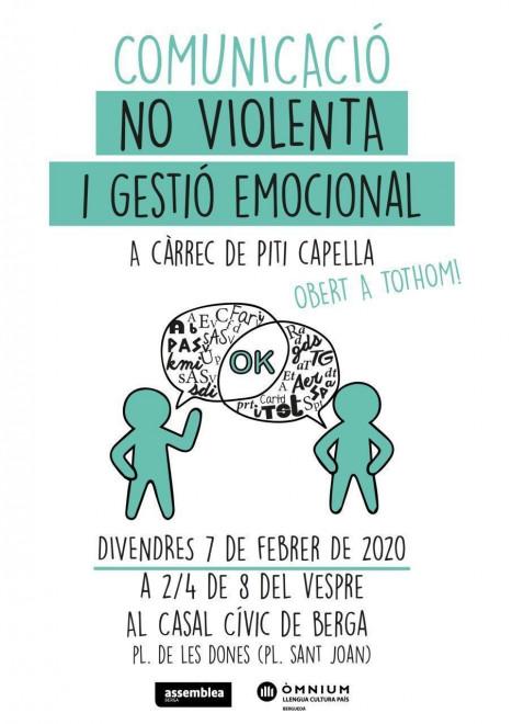 """Taller """"Comunicació No Violenta i Gestió Emocional"""" @ Casal Cívic de Berga"""