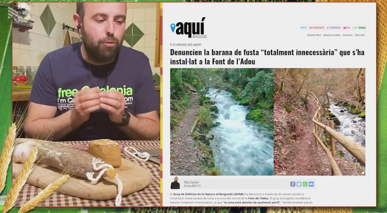 L'Està Passant de TV3 torna a fixar-se en el Berguedà: ara, en la barana instal·lada a la Font de l'Adou