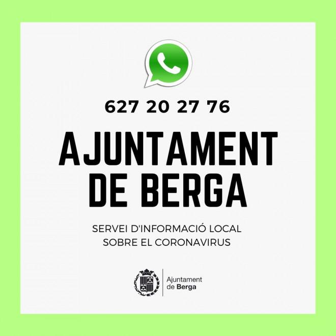 Servei Info coronavirus AjBerga