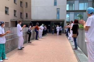 L'Hospital Sant Bernabé reconeix als professionals que s'han incorporat al centre durant la crisi del Covid-19