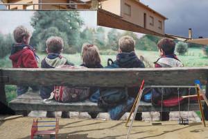 L'artista berguedà Nil Safont enllesteix aquesta setmana el seu segon mural a Montmajor, aturat per l'estat d'alarma