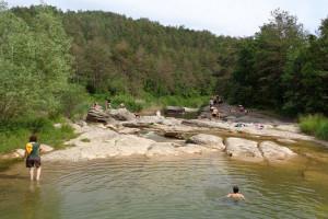 Prohibit banyar-se a la riera de Merlès