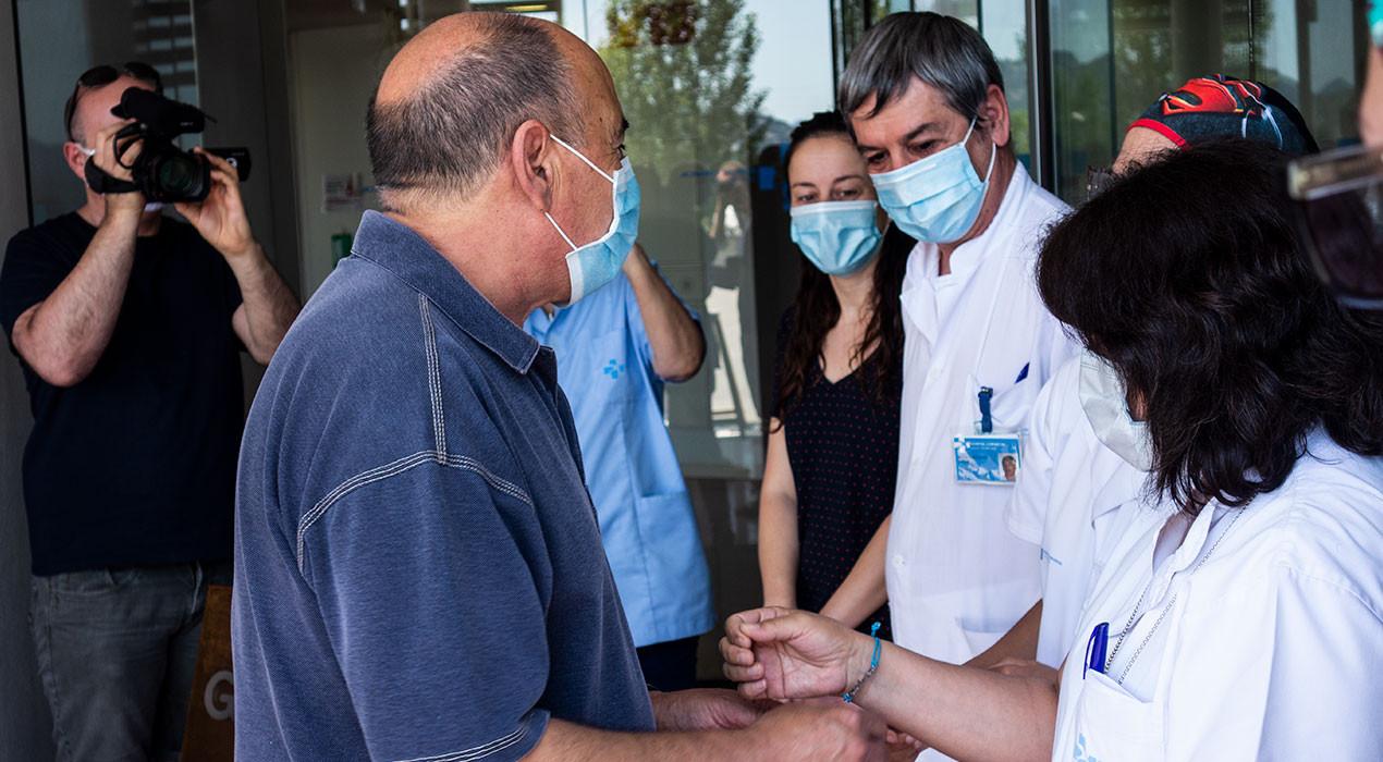 """""""Els professionals de l'hospital m'han donat valor per seguir vivint, sempre els estaré agraït"""""""