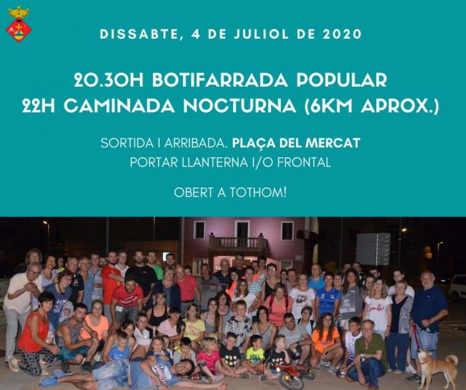 Botifarrada i caminada nocturna @ Plaça del Mercat (MONTMAJOR)