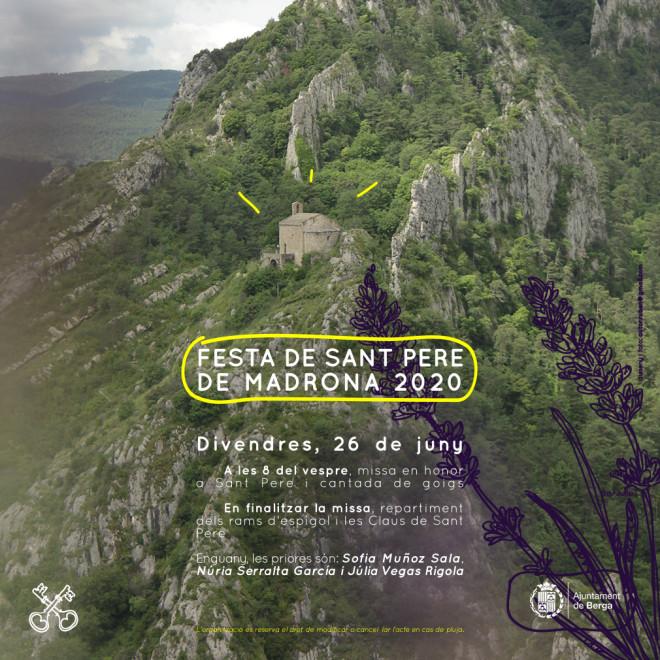 Festa de Sant Pere de Madrona de 2020 @ Església de Sant Pere de Madrona (BERGA)