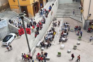 El Tabal ressona des de dins l'Ajuntament per encetar la setmana de Corpus sense Patum
