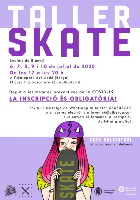 Taller d'estiu d'skate 2020 @ Skatepark del Lledó (BERGA)