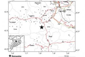 Un terratrèmol de 2,3 graus es percep a Bagà
