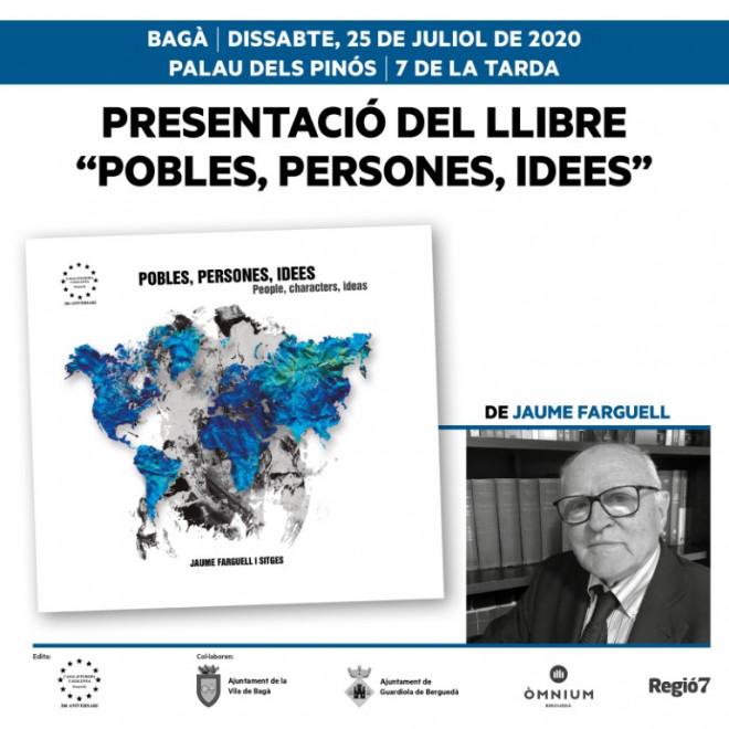 """Presentació del llibre """"Pobles, persones, idees @ Palau dels Pinós (BAGÀ)"""