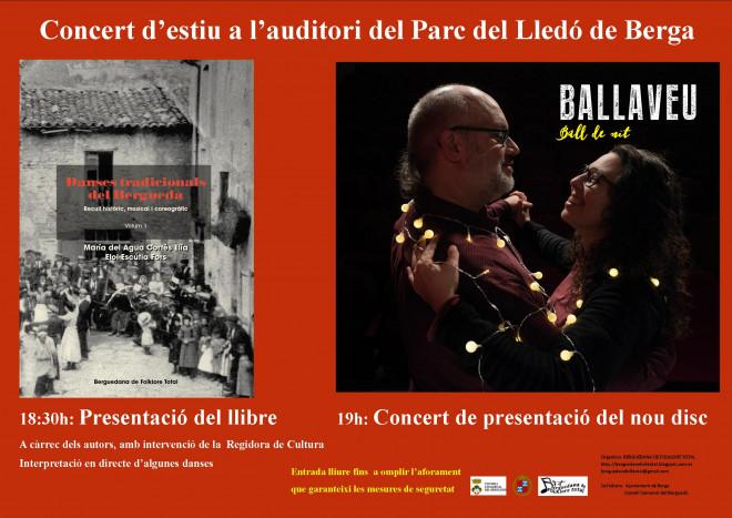 Presentació llibre i concert @ Parc del Lledó (BERGA)