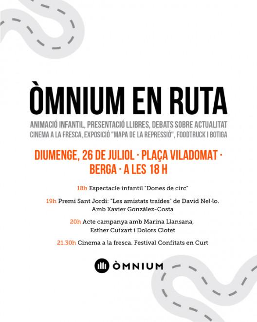 Òmnium en ruta @ Plaça Viladomat (BERGA)