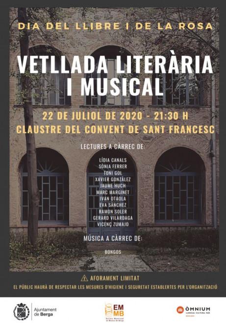 Vetllada literària i musical @ Convent de Sant Francesc (BERGA)