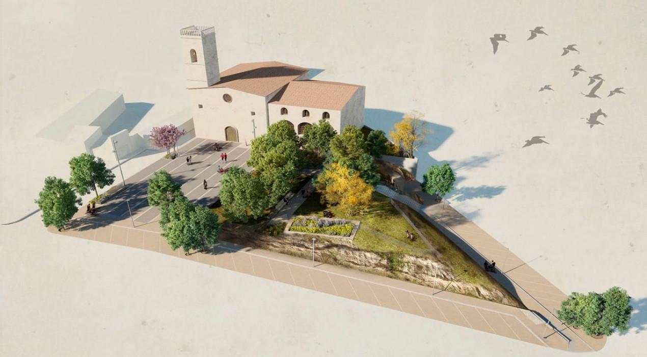 Avià ja disposa del projecte per urbanitzar la Plaça de l'Església