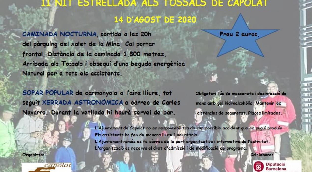 II NIT ESTRELLADA ALS TOSSALS DE CAPOLAT