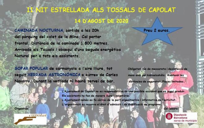 II NIT ESTRELLADA ALS TOSSALS DE CAPOLAT @ Capolat