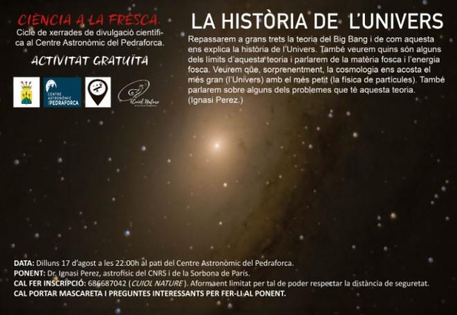 CIÈNCIA A LA FRESCA: la història de l'Univers @ Centre astronòmic del Pedraforca (SALDES)