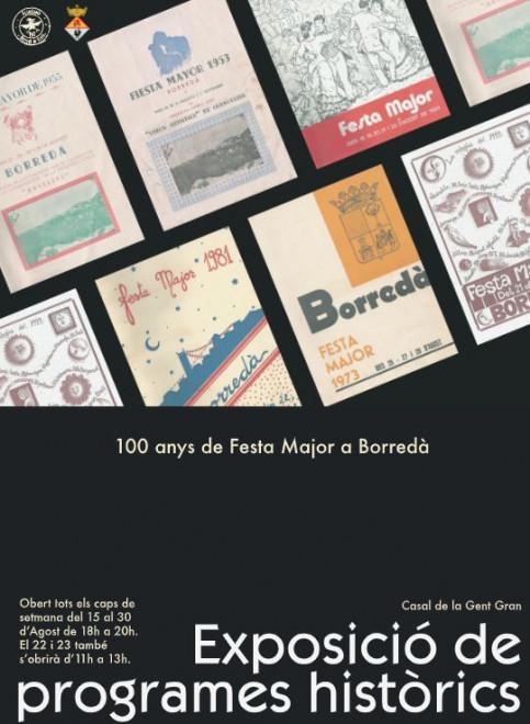 Exposició 100 anys de Festa Major a Borredà @ Casal de la Gent Gran (BORREDÀ)