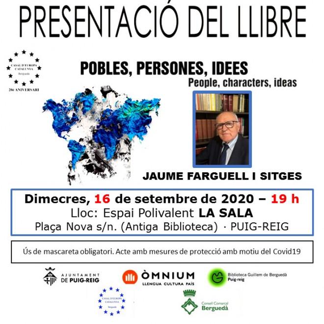 """Presentació llibre: """"Pobles, persones, idees"""" @ La Sala (Plaça Nova, s/n · PUIG-REIG)"""