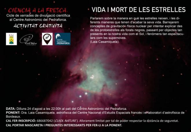 CIÈNCIA A LA FRESCA: vida i mort de les estrelles @ Centre astronòmic del Pedraforca (SALDES)