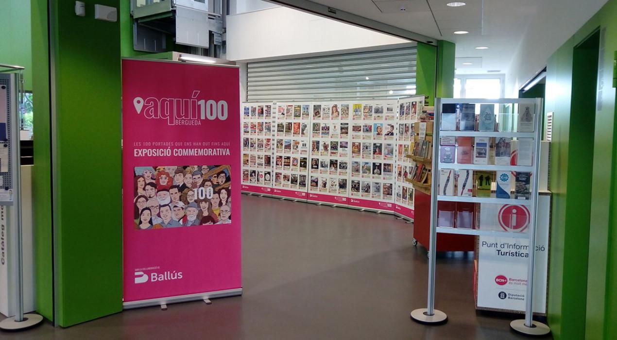 L'exposició de les 100 portades de la revista Aquí fa parada tot el setembre a la biblioteca de Gironella