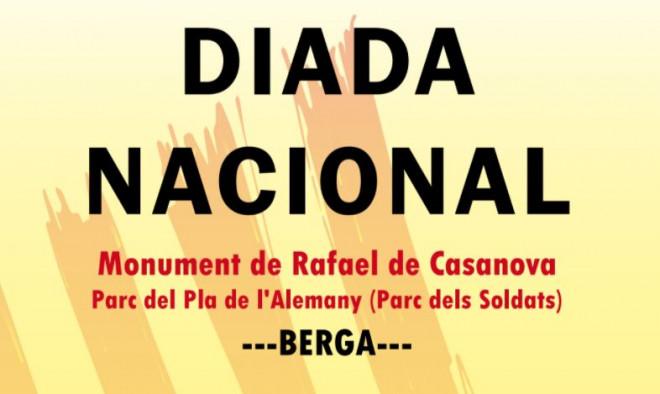 Acte Diada 2020 a Berga @ Monument de Rafael de Casanova - Parc del Pla de l'Alemany (Parc dels Soldats) BERGA