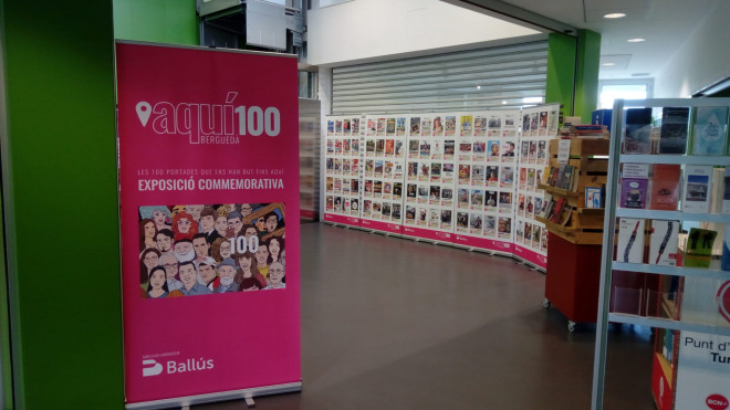 """Exposició """"Les 100 portades que ens han dut fins Aquí"""" @ Biblioteca de Gironella"""