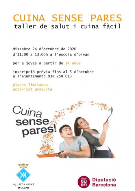 """Taller """"Cuina sense pares!"""" @ Escola d'Olvan"""