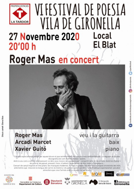Concert de ROGER MAS @ Local del Blat (GIRONELLA)
