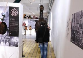 L'Àliga s'acomiada temporalment de l'exposició de la Patum al convent de Sant Francesc