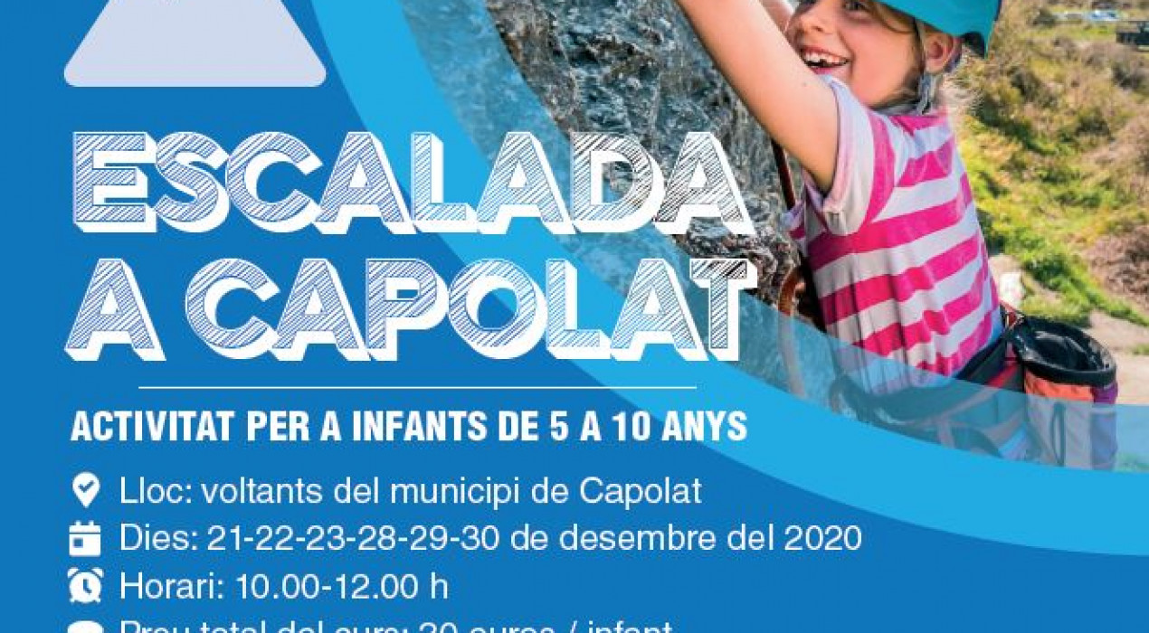 Curs d'escalada per a infants