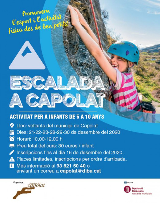 Curs d'escalada per a infants @ Capolat