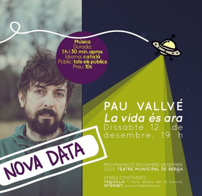 Pau Vallvé @ Teatre Municipal de Berga