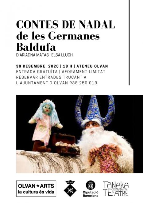 """OLVAN*ARTS: """"Contes de Nadal de les germanes Baldufa"""" @ Ateneu d'Olvan"""