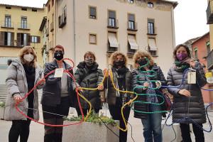 Campanya per il·luminar el Nadal a Berga amb llums elaborats pels usuaris i usuàries d'entitats socials